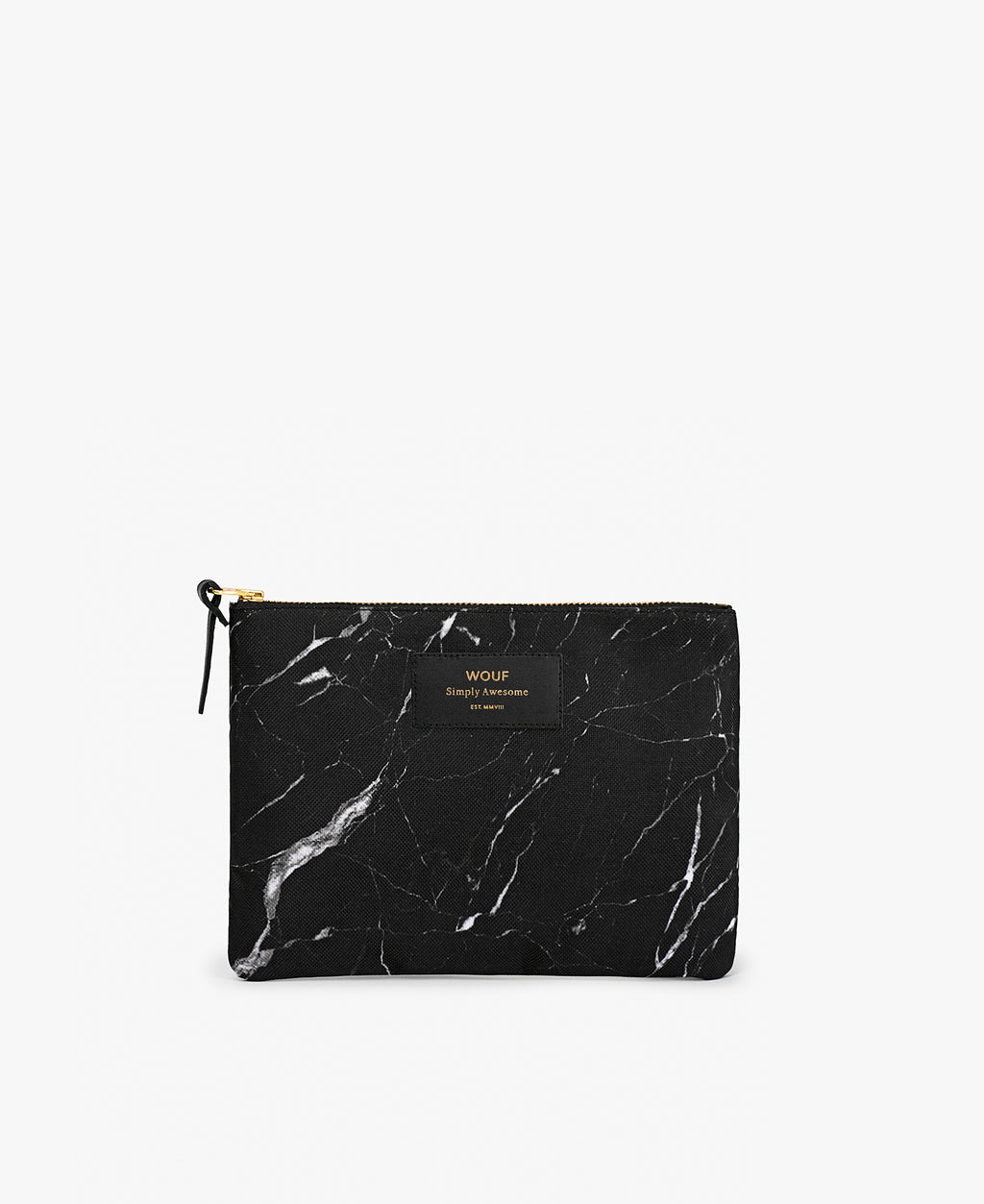 Black Marble Pouch