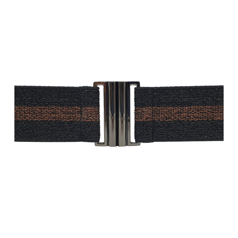 Lurex Belt - Black & Copper