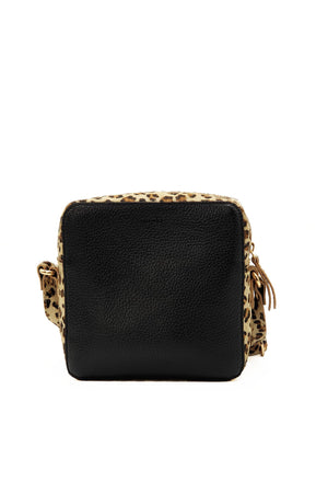 Cosmo Cross Body Bag - Hair on Leopard Print