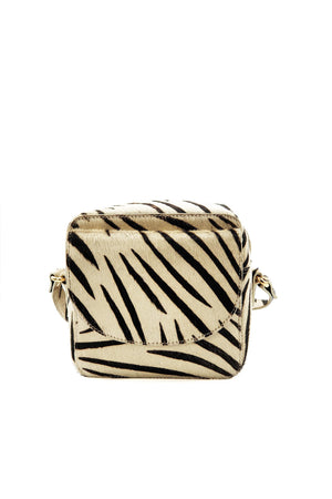 Cosmo Cross Body Bag - Hair on Zebra Print