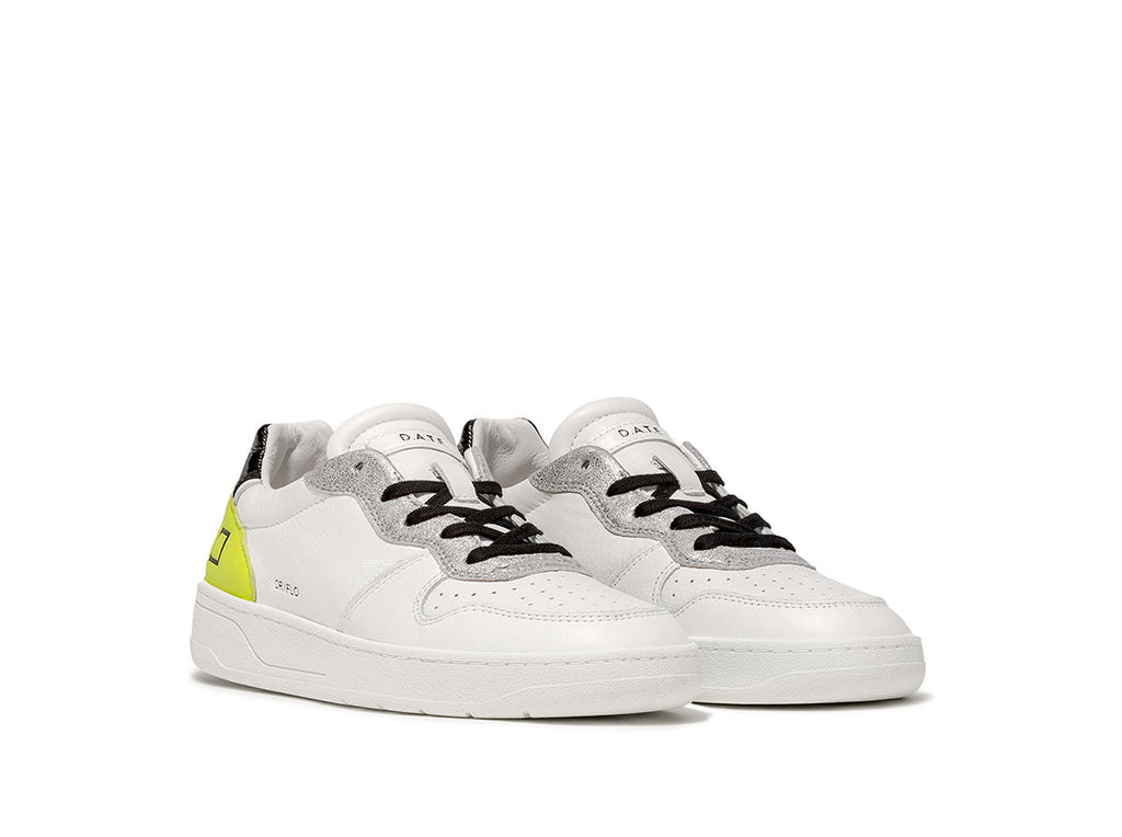 D.A.T.E Sneakers - Court Fluo White-Yellow