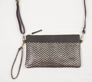 CAREY CLUTCH - GOLD SNAKE