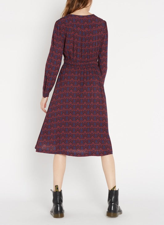 Carl Dress - Burgundy