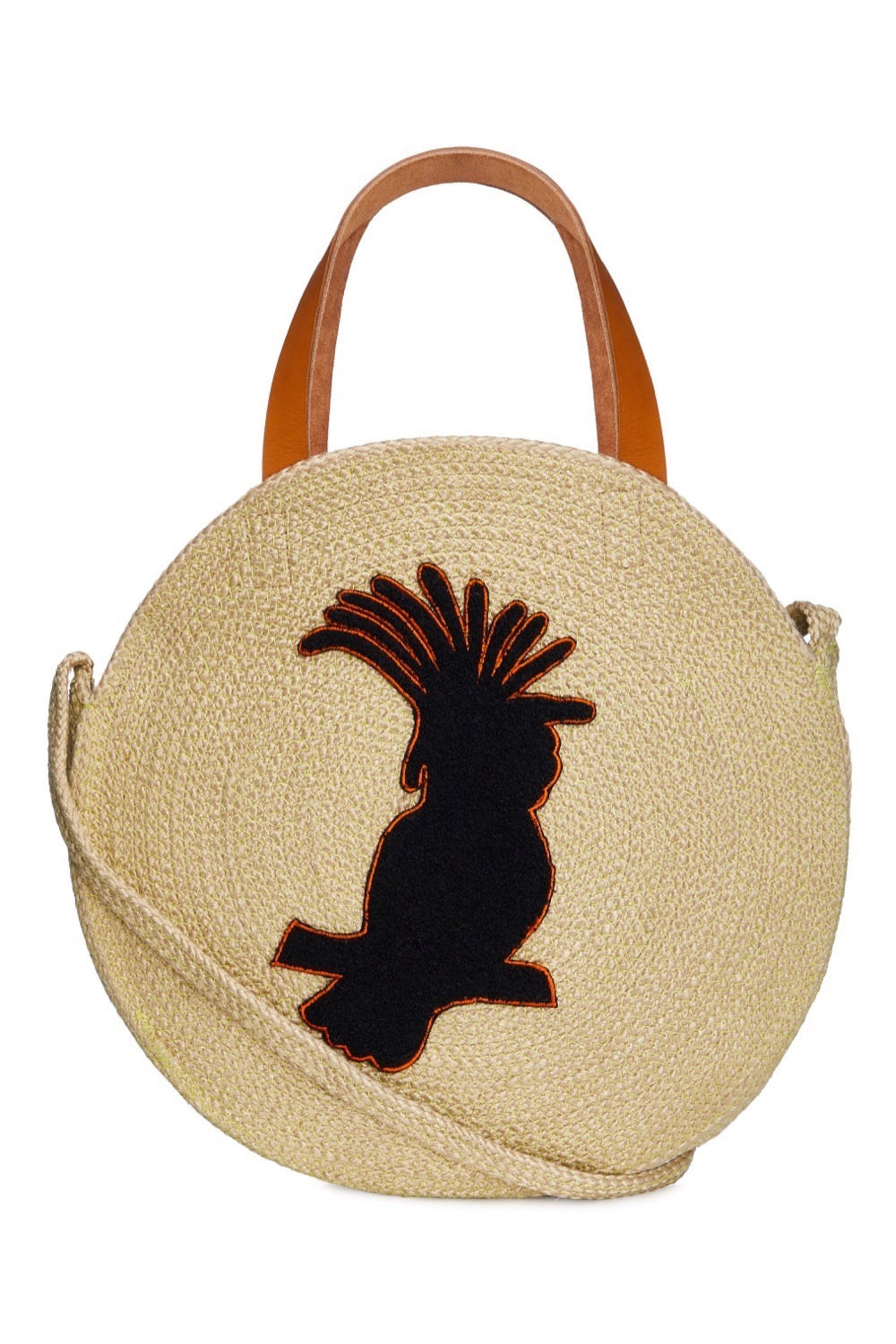 Jute Round Shopper - Cockatoo