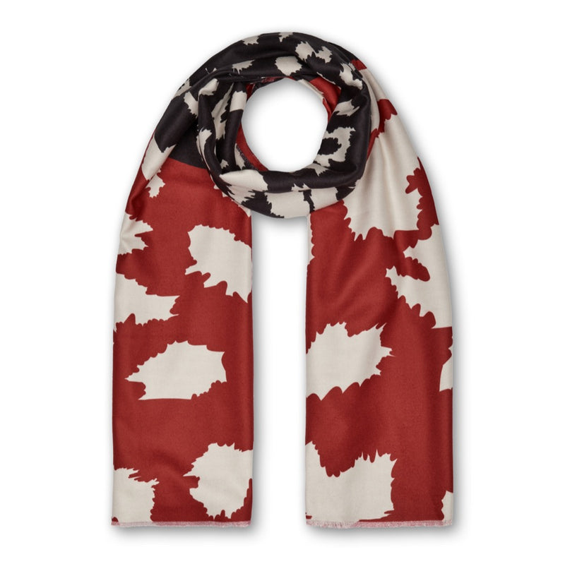 Diva Leopard Scarf - Red