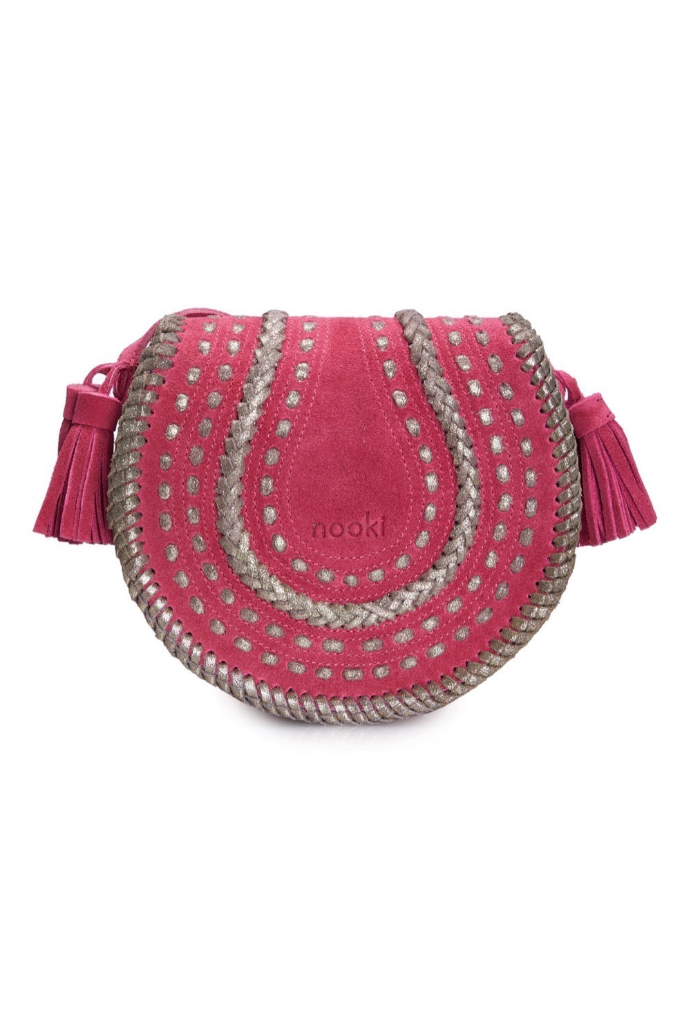 D'Souza Cross body  - Pink Suede