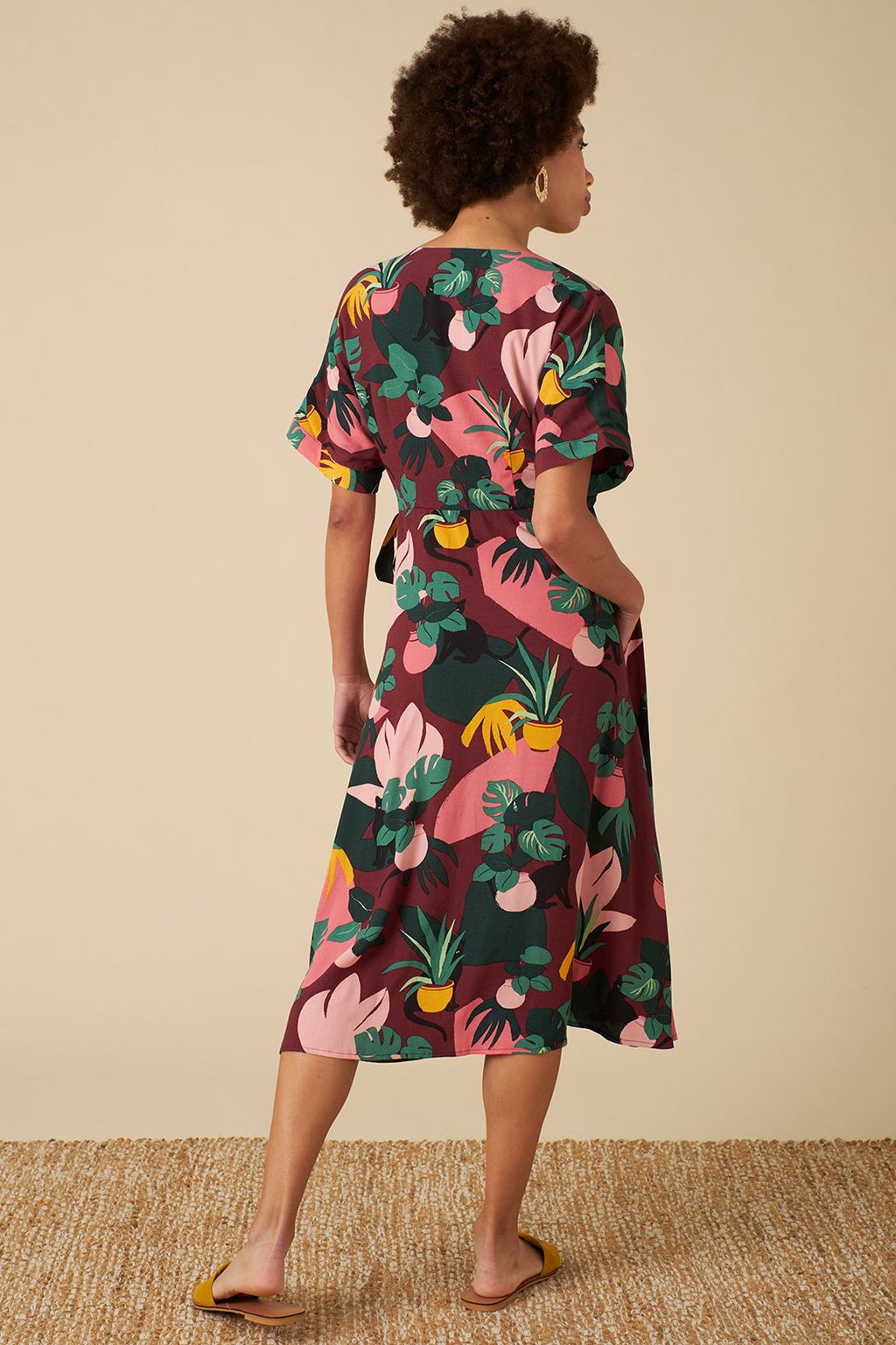 Jenna Wrap Dress - Medina Cat
