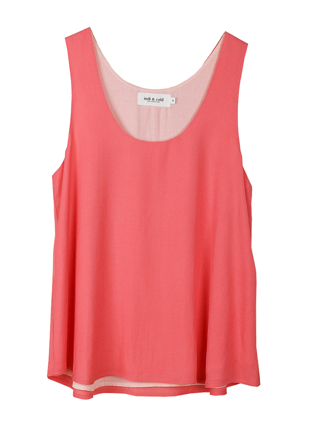 Anais Flair Top - Coral