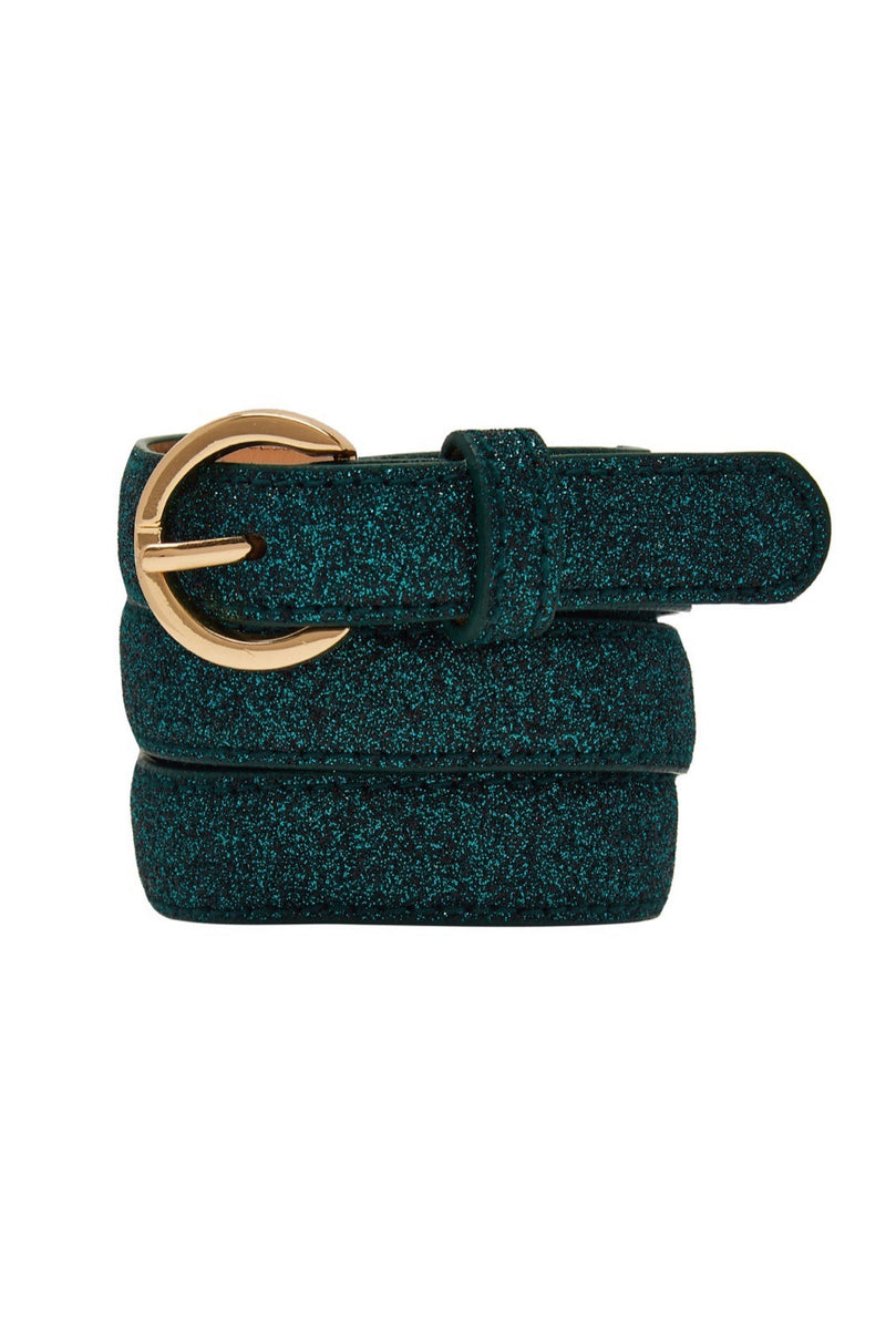 Metallic Belt - Emerald