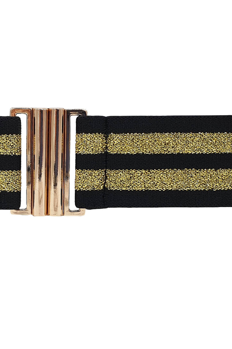 Lurex Elastic Belt - Gold