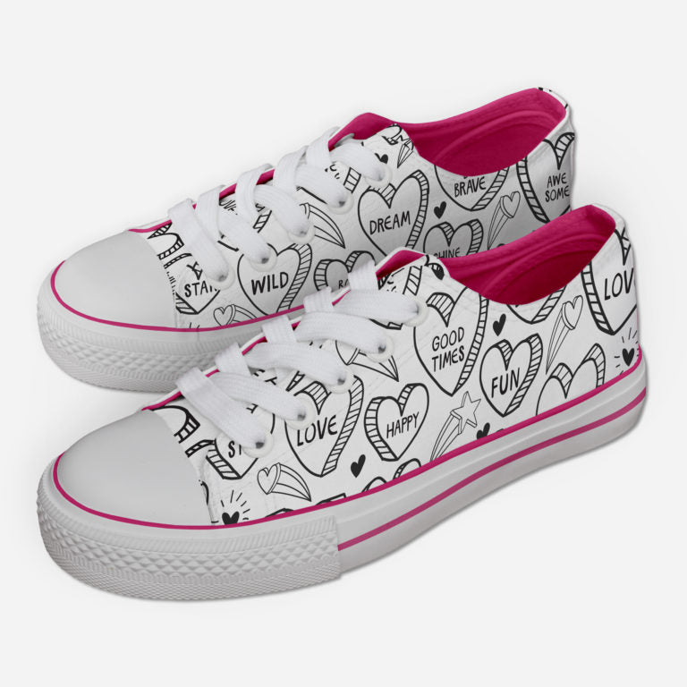 Positive Vibes Heart Sneakers