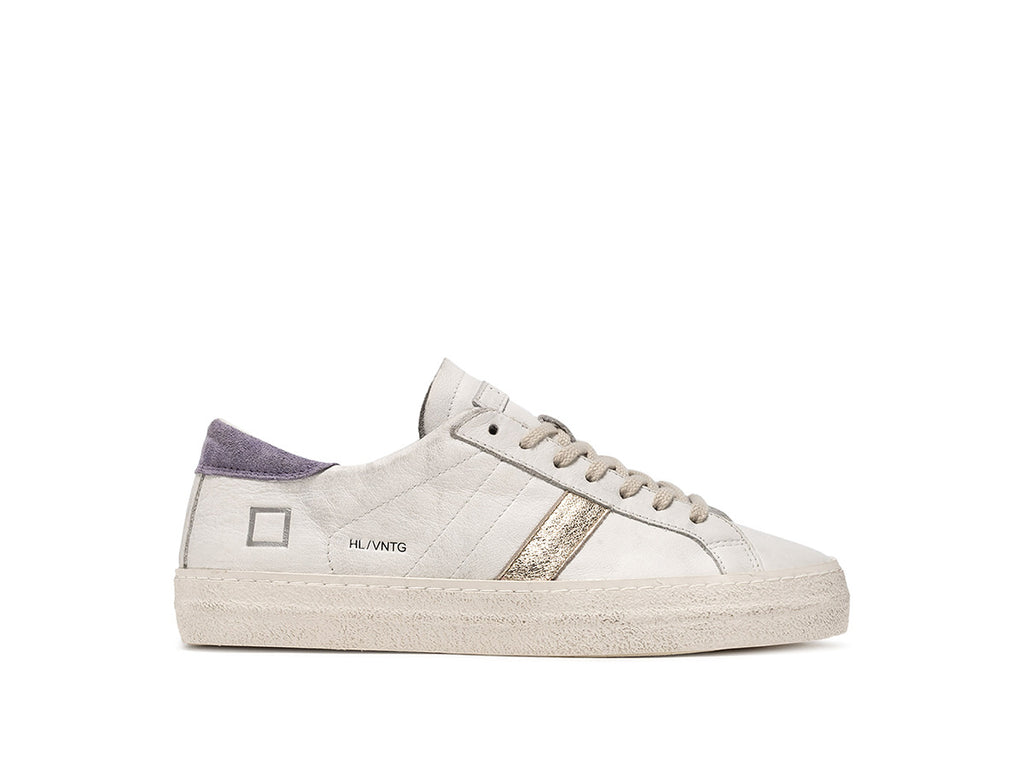 D.A.T.E Sneakers - Hill Low Vintage Calf White-Lavender