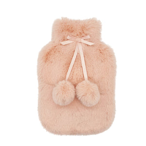 Lux Hot Water Bottle Cover - Nude