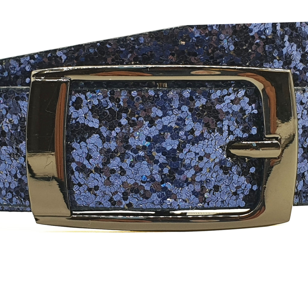 Hacienda Glitter Belt - Blue