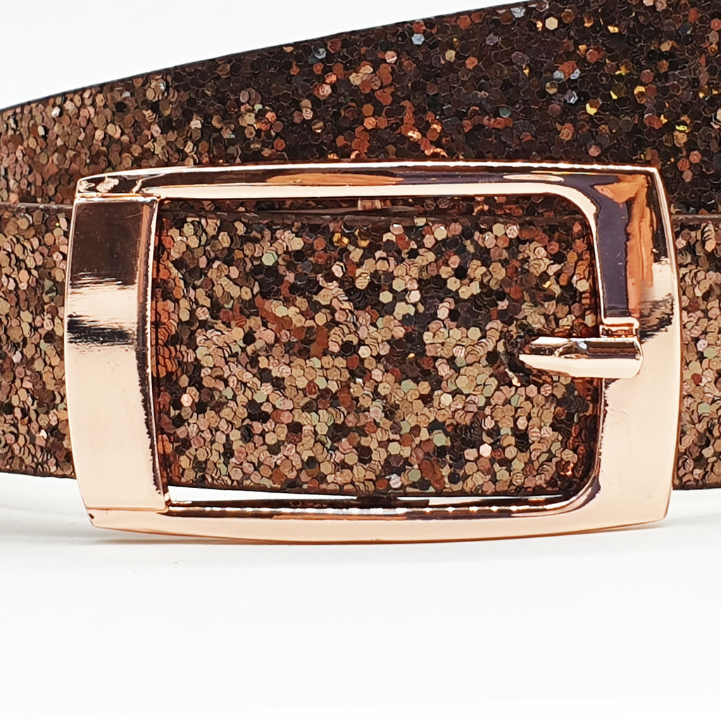 Hacienda Glitter Belt - Copper