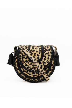 D'Souza Crossbody - Hair on Leopard Print