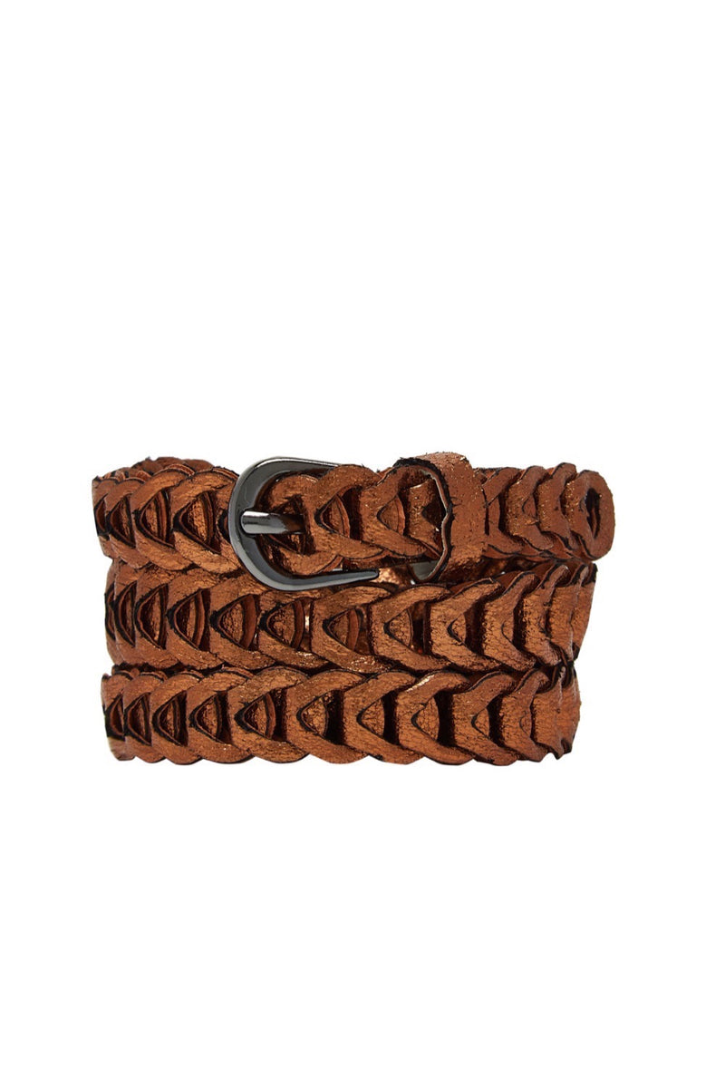 Metallic Loop Belts - Rust