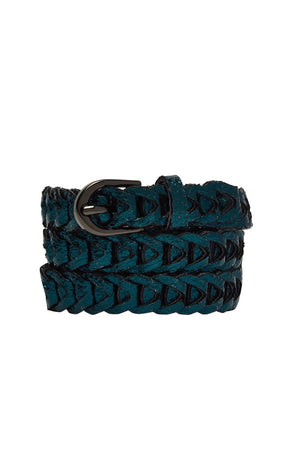 Metallic Loop Belts - Emerald