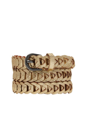 Metallic Loop Belts - Gold