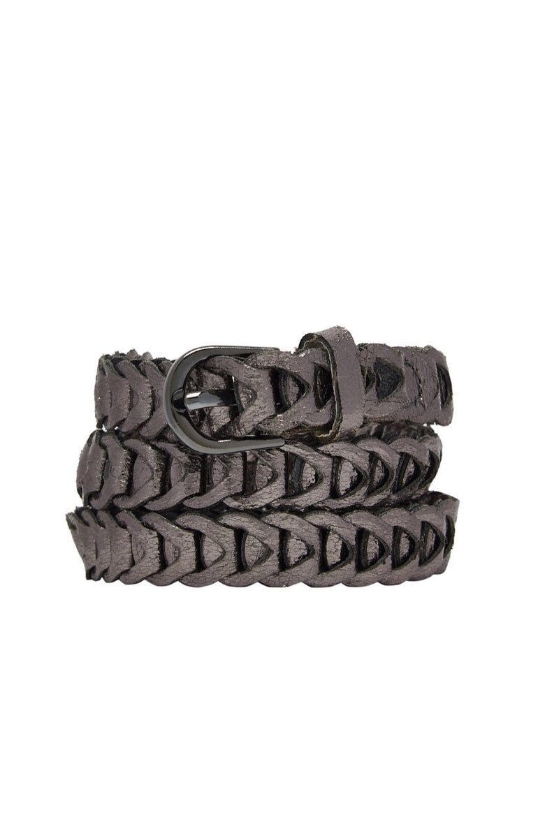 Metallic Loop Belts - Gunmetal