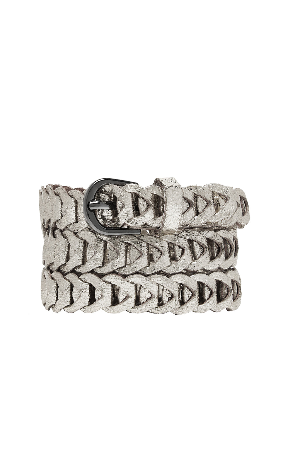 Metallic Loop Belts - Silver