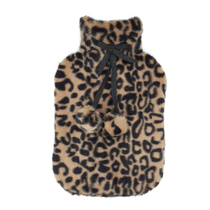 Lux Hot Water Bottle Cover - Leopard Print
