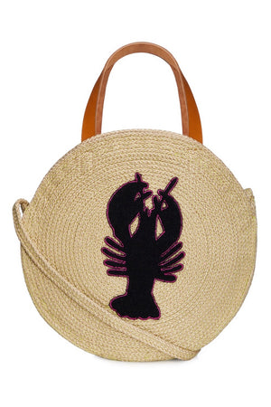 Jute Round Shopper - Lobster