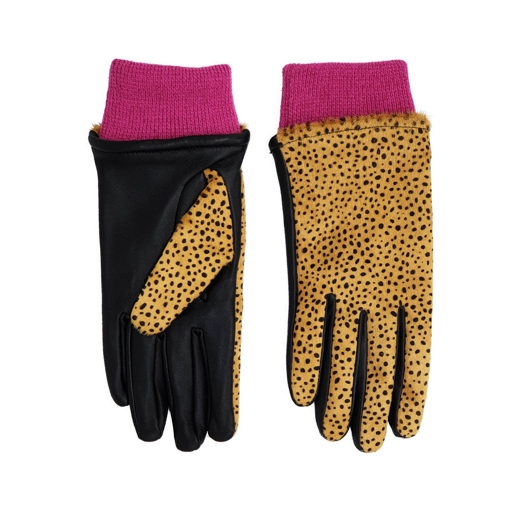 Margie Gloves - Neutral Spot/Pink