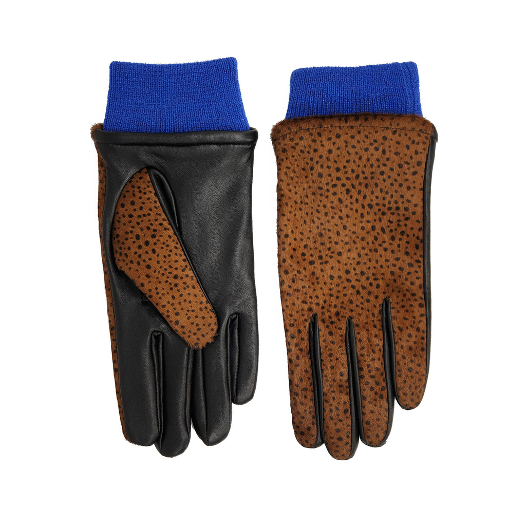 Margie Gloves - Brown Spot/Blue