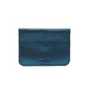 Marlin Metallic Leather Cardholder - Teal