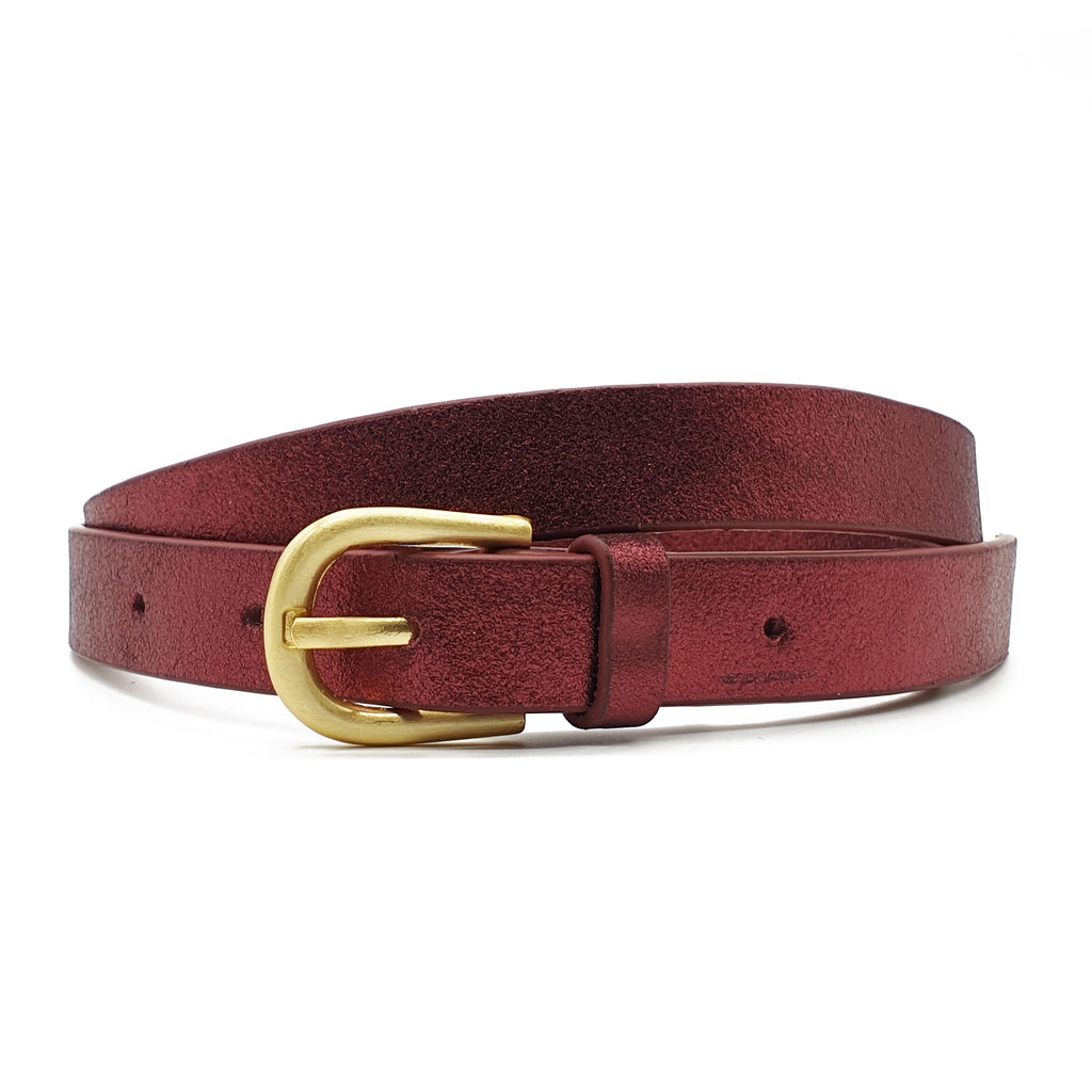 Melena Metallic Belt - Rust