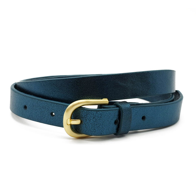 Melena Metallic Belt - Teal