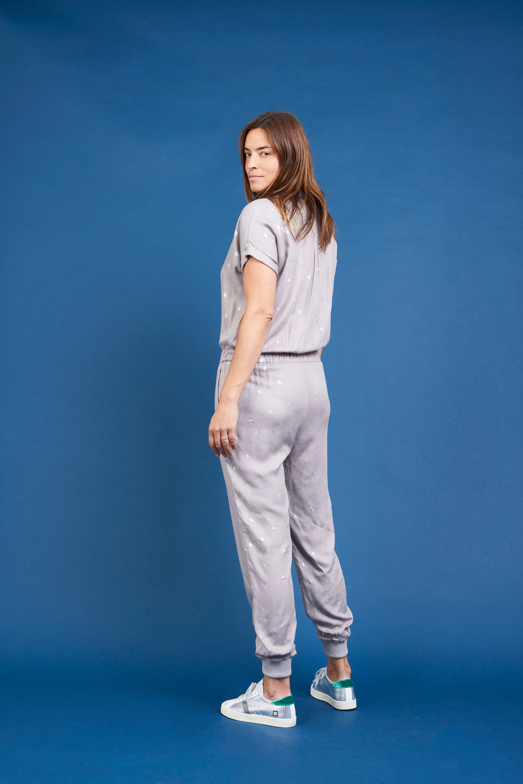 Kimie Jumpsuit - Bee Foil Grey