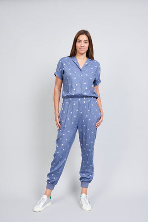 Kimie Jumpsuit - Bee Foil Navy