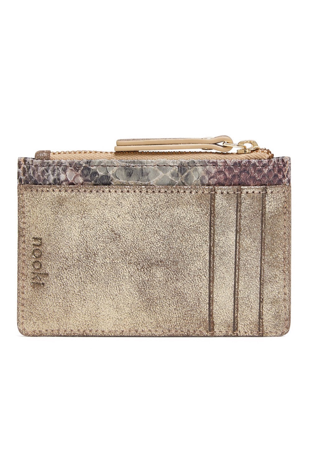 Rubin Card Holder - Gold & Rose Snake print