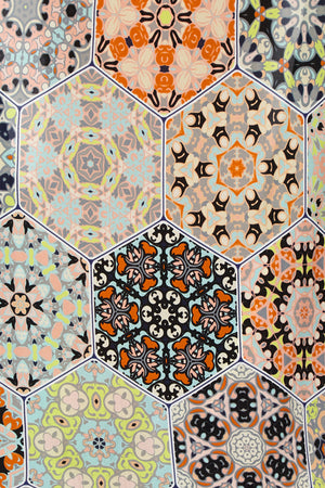 Silk Cape - Tunisian Tile Print