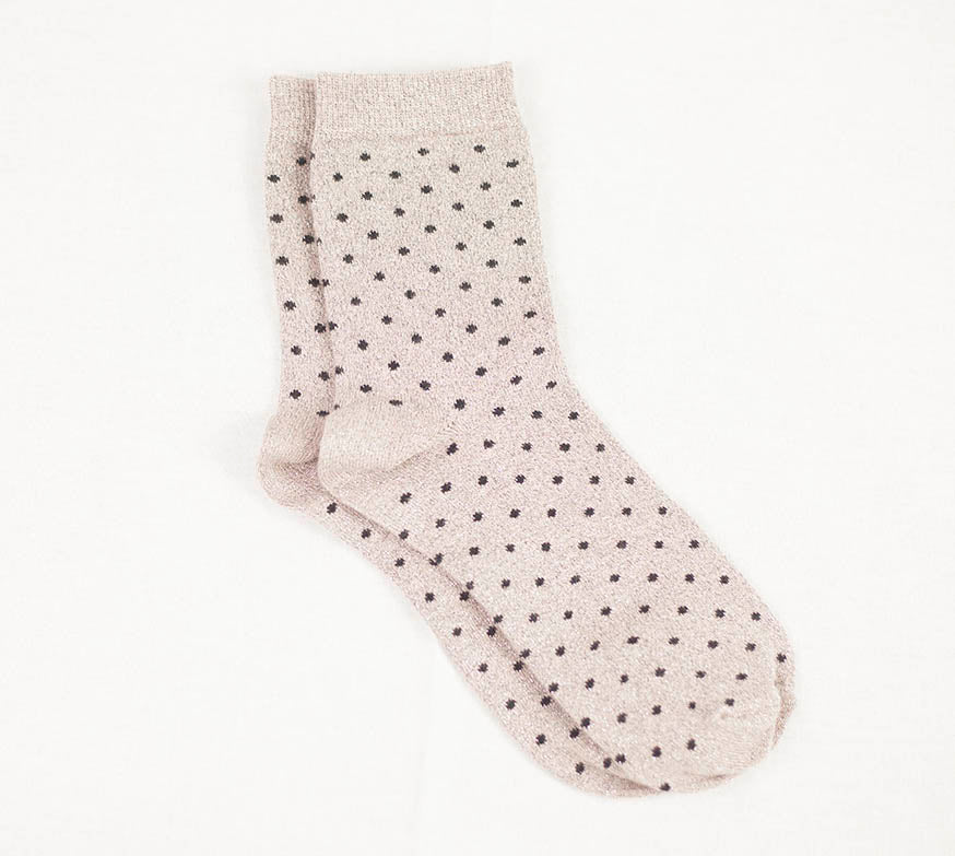 Dottie Sock - Mink/Black