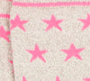 Starry Stock - Grey/Pink