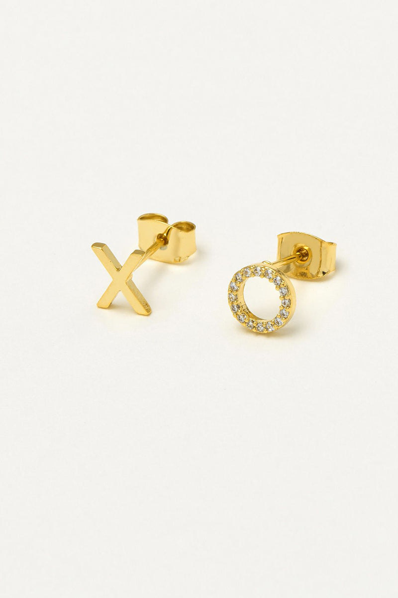 XO Gold Stud Earrings