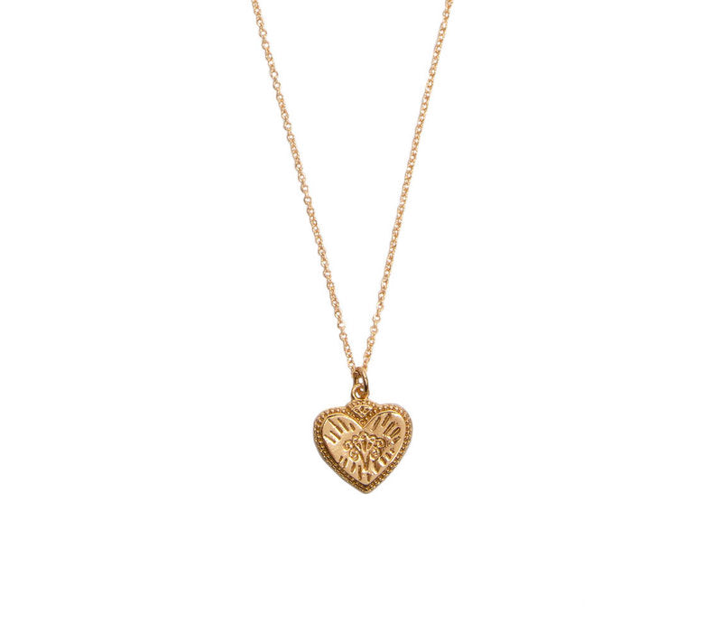Heart Burst 18k Gold charm necklace