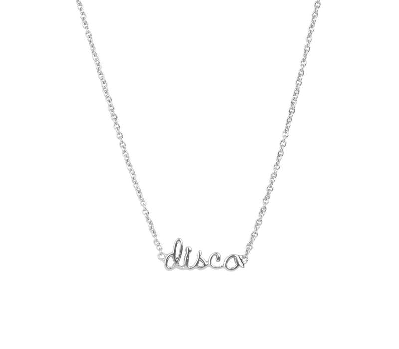 Disco Silver-plated necklace