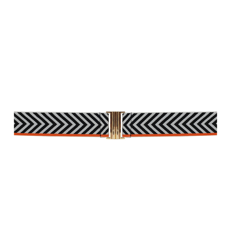 Lurex Belt - Chevron