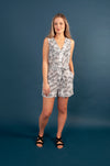 Coco Playsuit - Palm Print Navy