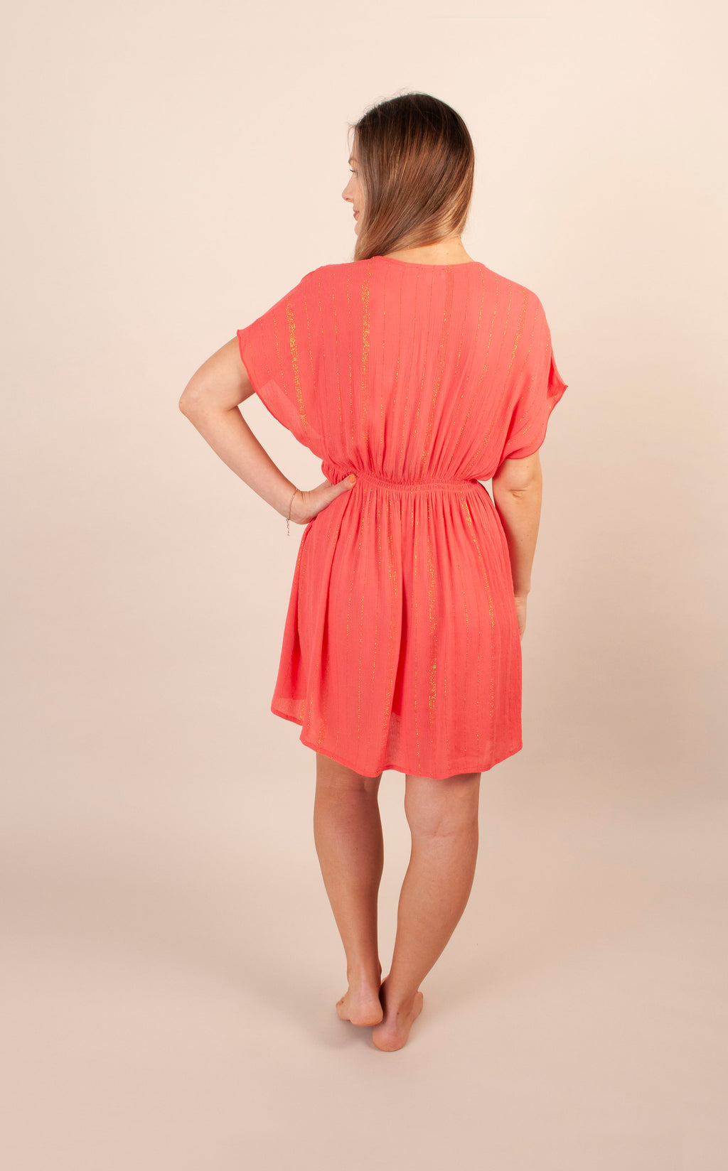 Tahiti Lagoon Dress - Coral