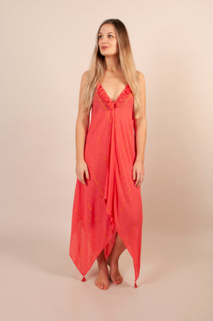 Larna Dress - Coral