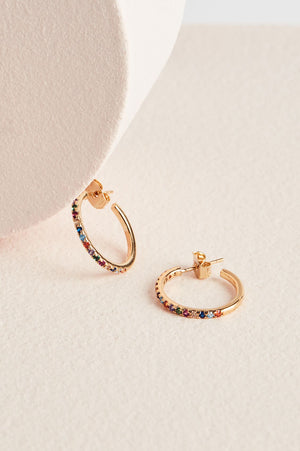 Pave Large Hoop Earrings