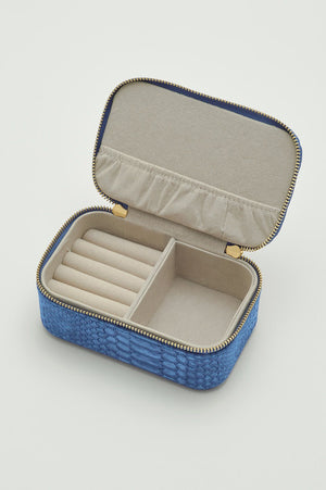 Mini Jewellery Box - Blue snakeskin