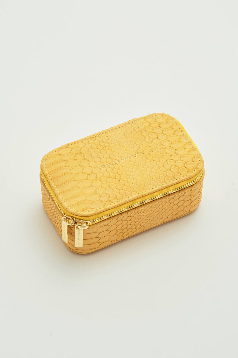 Mini Jewellery Box - Yellow snakeskin