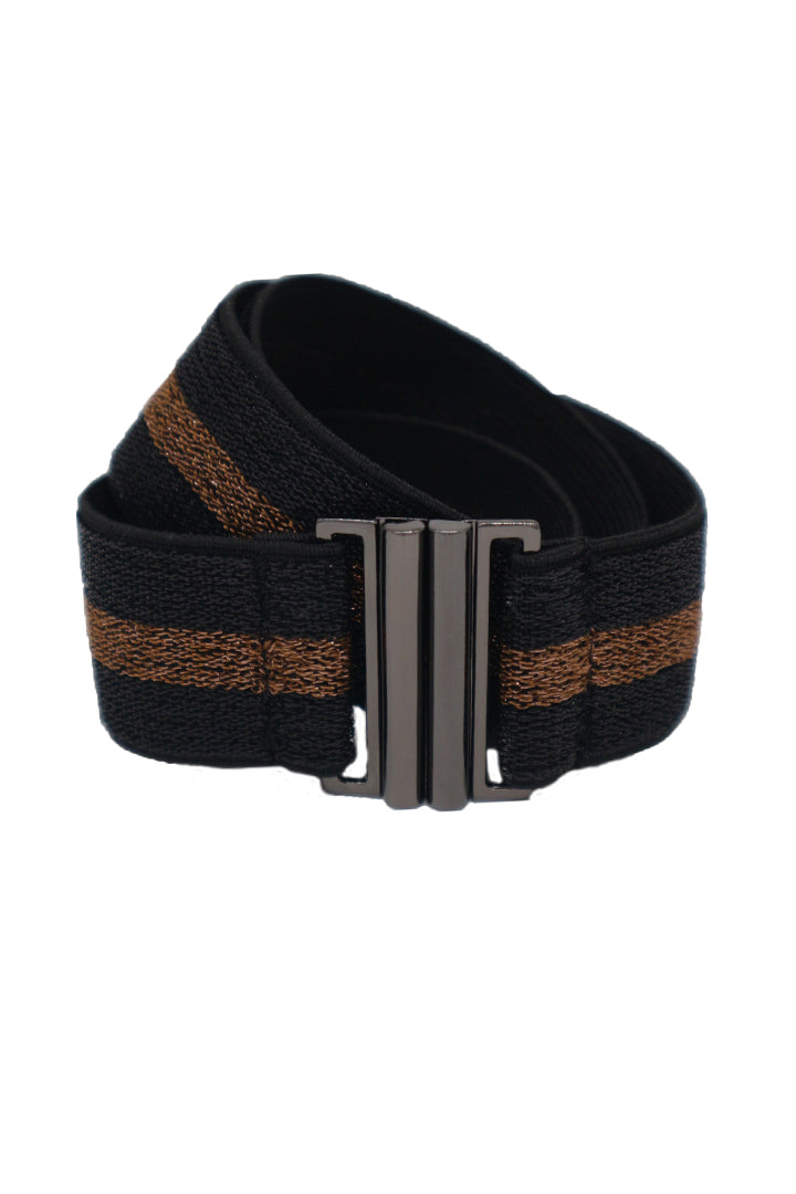 Lurex Elastic Belt - Rust