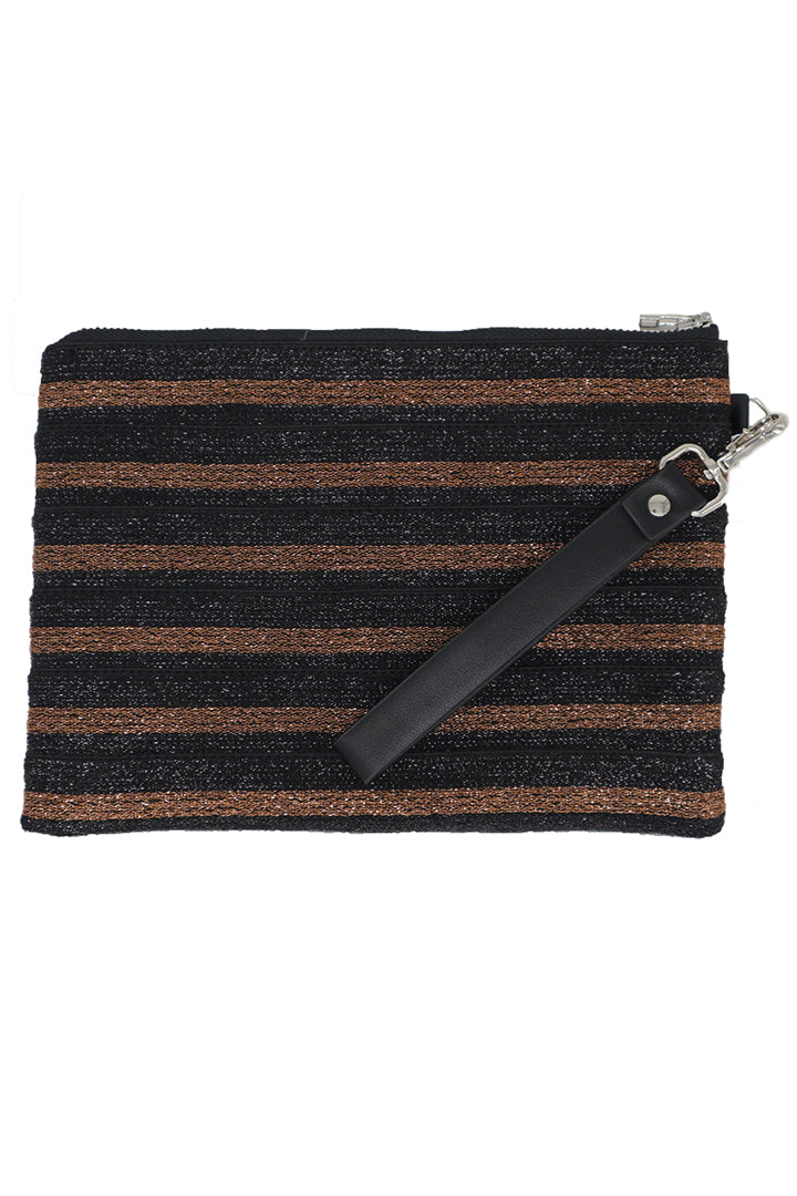 Lurex Elastic Clutch - Rust